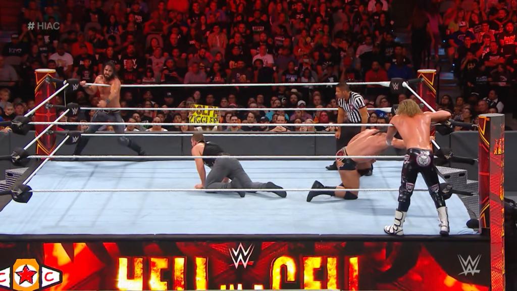 Dolph Ziggler & Drew McIntyre vs. Seth Rollins & Dean Ambrose HIAC 2018